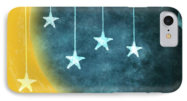 Moon And Stars Phone Case by Setsiri Silapasuwanchai