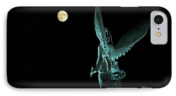 Super Moon And Winged Goddess Of Victory IPhone Case by Charline Xia