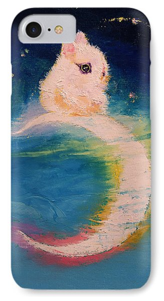 Moon Bunny IPhone Case by Michael Creese