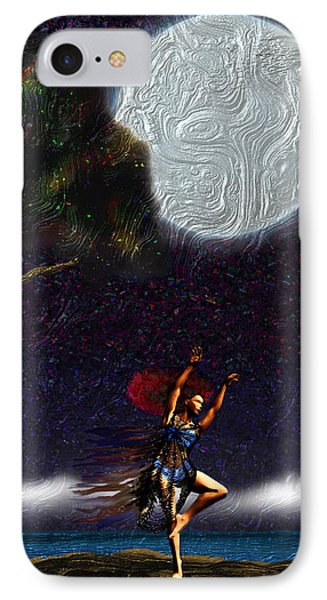 IPhone Case featuring the digital art Moon Dancer by Iowan Stone-Flowers