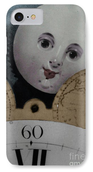 Moon Face IPhone Case by Lyric Lucas