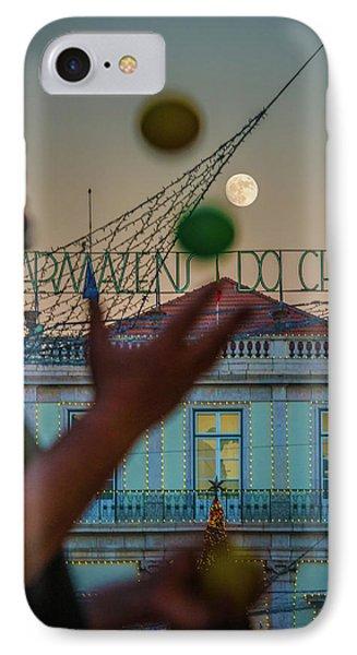 Moon Juggler IPhone Case