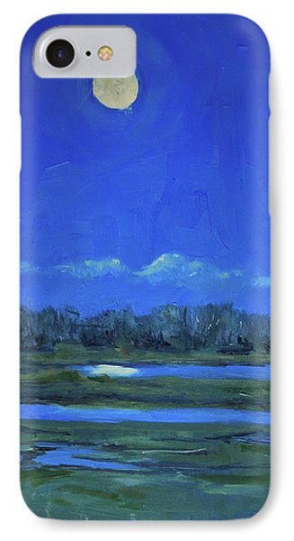 Moon Light And Mud Puddles IPhone Case by Billie Colson