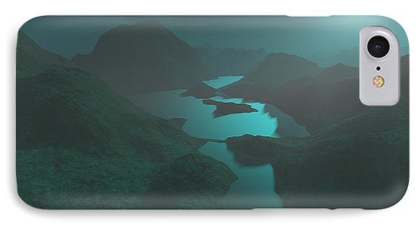 Moon Light At The Mountains Phone Case by Gaspar Avila