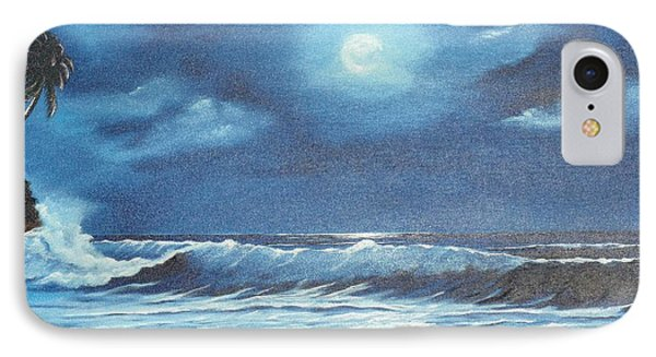 Moon Light Night In Paradise IPhone Case by Lloyd Dobson
