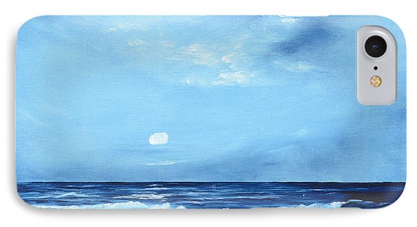 Moon Light Night Wave IPhone Case by Lloyd Dobson