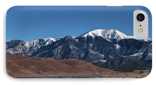 Moon Lit Colorado Great Sand Dunes Starry Night  IPhone Case by James BO Insogna