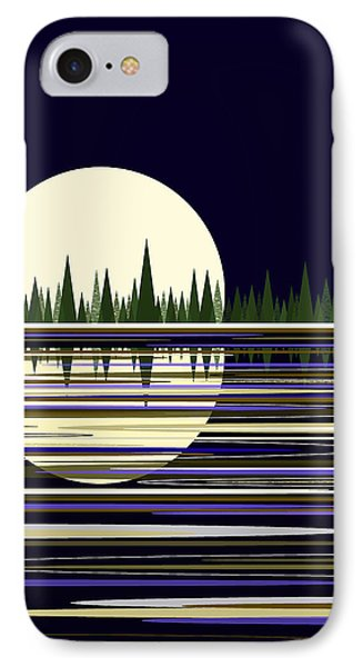 Moon Lit Water IPhone Case by Val Arie
