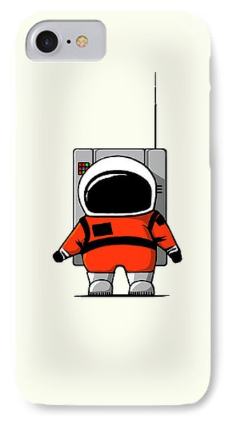 Moon Man IPhone Case by Nicholas Ely
