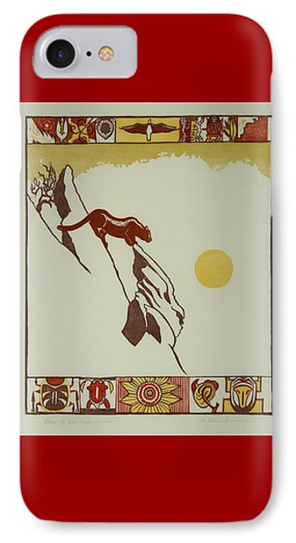 Moon Of Red Chokecherries IPhone Case by Dawn Senior-Trask