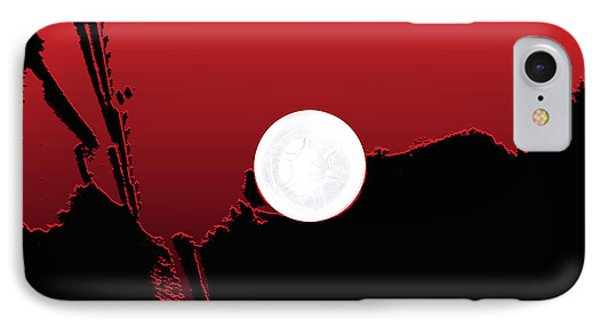 Moon On Abstract World Phone Case by Bruce Iorio