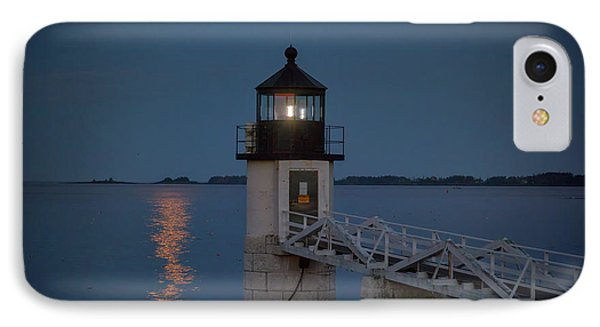 Moon Over Marshall Point IPhone Case