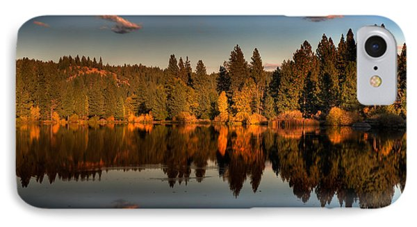 Moon Over Mill Pond Phone Case by Mick Burkey