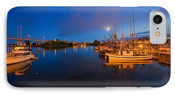 Moon Over Sitka Marina Phone Case by Mike  Dawson