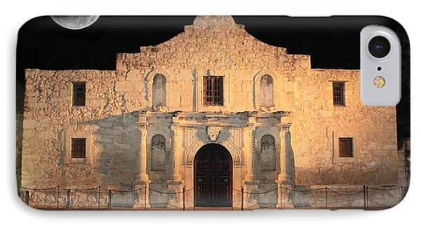 Moon Over The Alamo IPhone Case by Carol Groenen