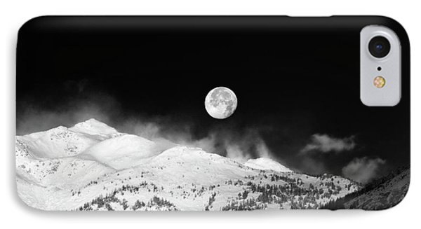 Moon Over The Alps IPhone Case