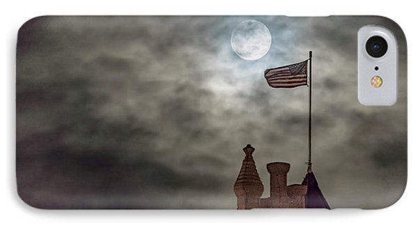 Moon Over The Bank IPhone Case by Rob Graham