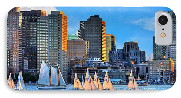 Moon Over The Boston Skyline IPhone Case by Toby McGuire
