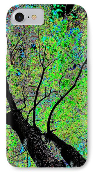 Moon Over The Maples Phone Case by Will Borden