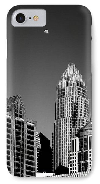 Moon Over The Queen City IPhone Case by Robert Yaeger