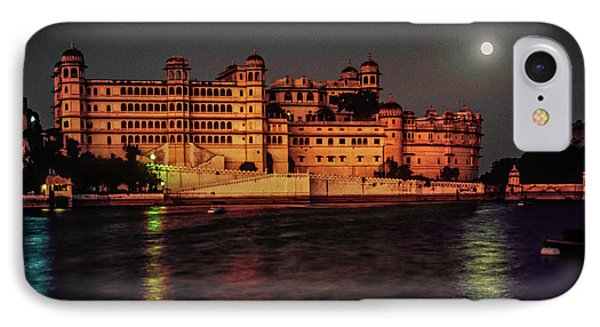 Moon Over Udaipur Phone Case by Steve Harrington