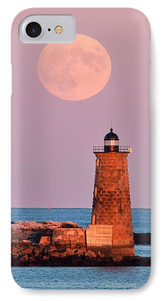 Moon Over Whaleback IPhone Case by Eric Gendron