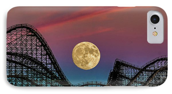 Moon Over Wildwood Nj IPhone Case by Nick Zelinsky