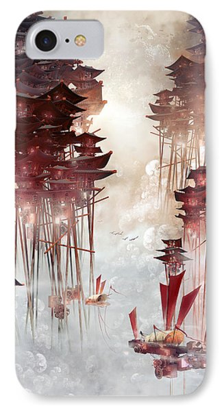 Moon Palace IPhone Case by Te Hu