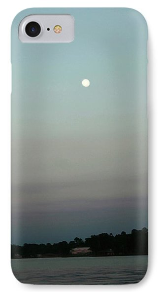 IPhone Case featuring the photograph Moon Rise On Lake Conroe by Ellen Barron O'Reilly