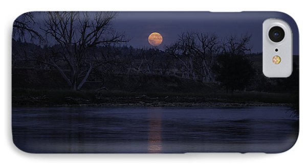 Moon Rise Over The Tongue IPhone Case by Shevin Childers