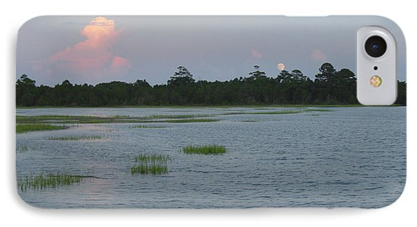 Moon Rising Over The Inlet Phone Case by Suzanne Gaff