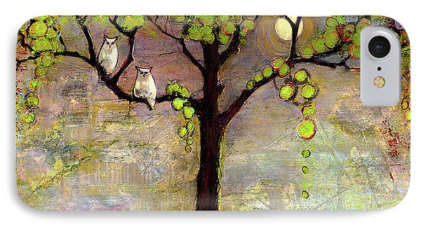 Moon River Tree Owls Art IPhone Case