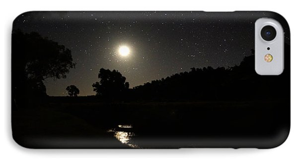 Moon Set Over Palm Valley 2 IPhone Case by Paul Svensen