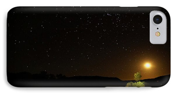 Moon Set Over Palm Valley IPhone Case by Paul Svensen