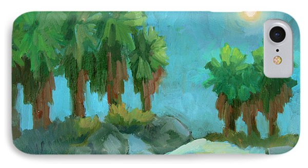 IPhone Case featuring the painting Moon Shadows Indian Canyon by Diane McClary