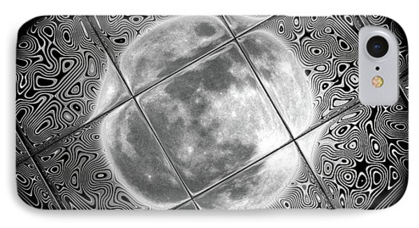 Moon Tile Reflection Phone Case by Stephen Younts
