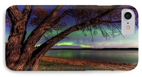 Moon Vs Aurora IPhone Case