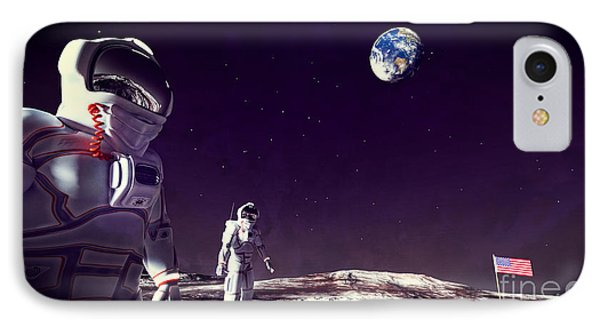 Moon Walk IPhone Case by Methune Hively