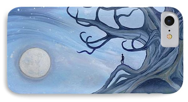 Moon Watcher IPhone Case by Cedar Lee