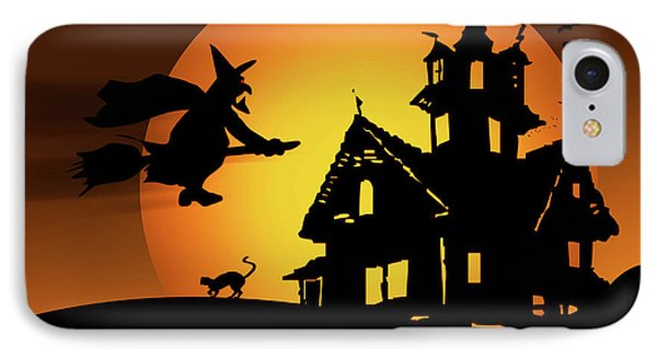 Moon Witch IPhone Case by Marilu Windvand