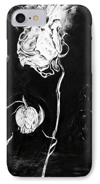Moonlight And Roses IPhone Case by Nadine Dennis