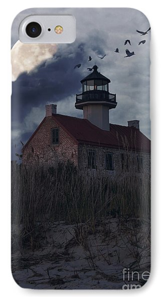 Moonlight At East Point IPhone Case by Debra Fedchin