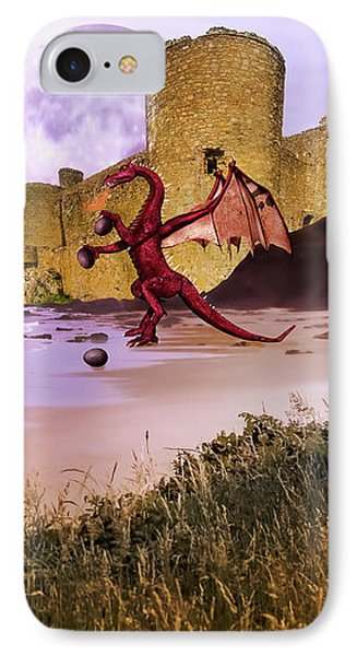 IPhone Case featuring the photograph Moonlight Dragon Attack by Diane Schuster