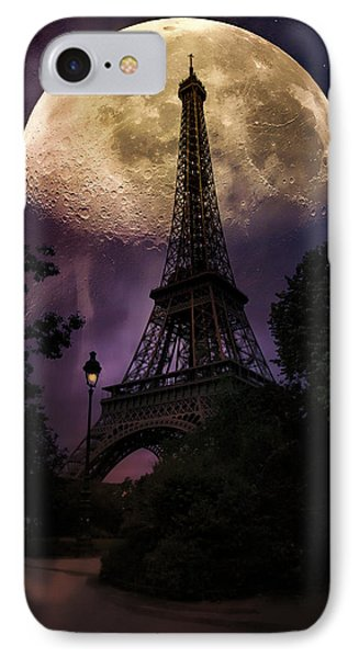 Moonlight In Paris IPhone Case by John Rivera