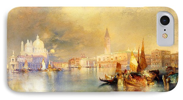 Moonlight In Venice IPhone Case by Thomas Moran