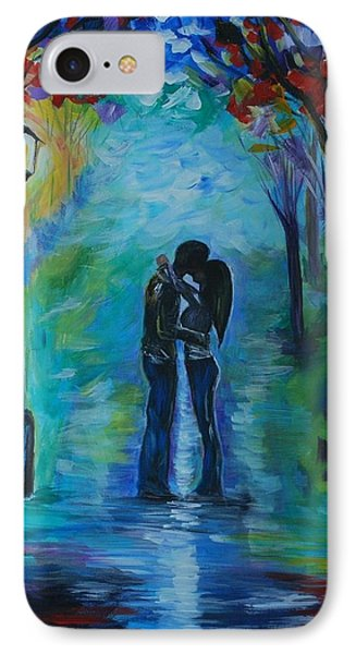 IPhone Case featuring the painting Moonlight Kiss by Leslie Allen