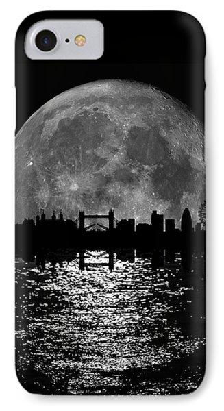 Moonlight London Skyline IPhone 7 Case by Mark Rogan