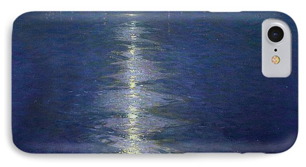 Moonlight On The River IPhone Case by Lowell Birge Harrison