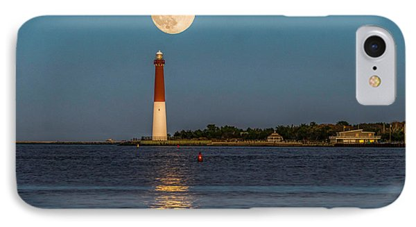 Moonlight Over Barnegat Lighthouse IPhone Case by Nick Zelinsky