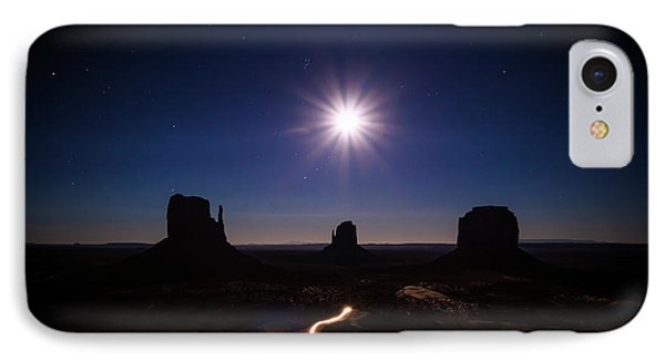 Moonlight Over Valley IPhone Case